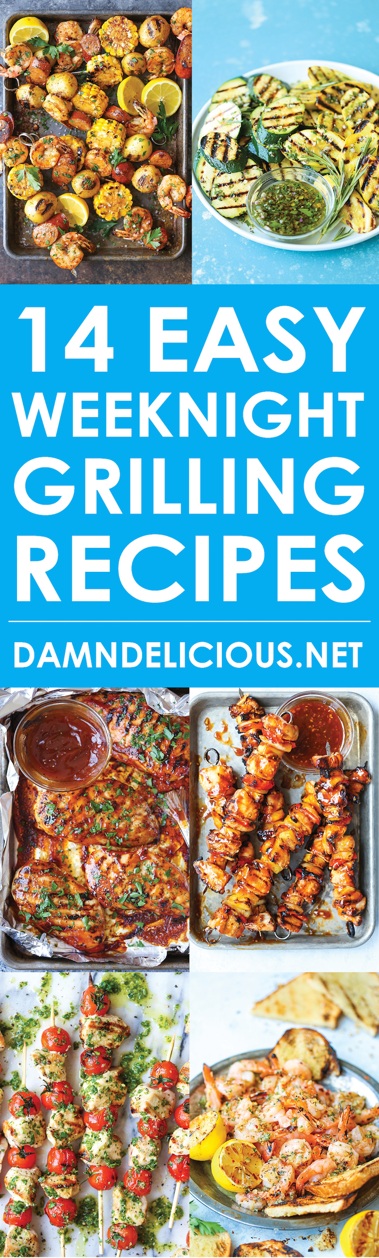 14 Easy Weeknight Grilling Recipes - It's time to fire up the grill for the easiest/quickest recipes EVER! You'll want to use the grill every single night!