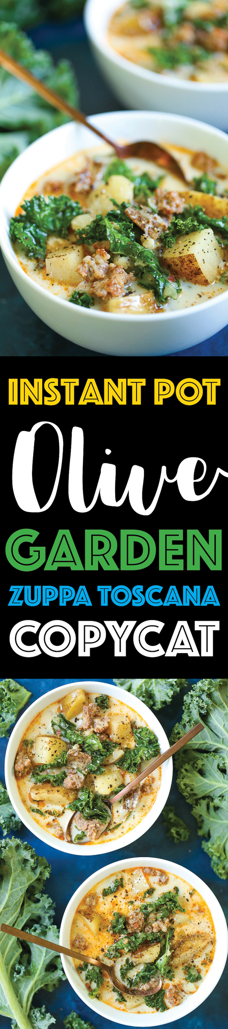 Instant Pot Olive Garden Zuppa Toscana Copycat - This copycat tastes just like the restaurant version except you can make it in the pressure cooker. It is unbelievably easy and effortless – anyone can make it! It is basically fool-proof. Promise!