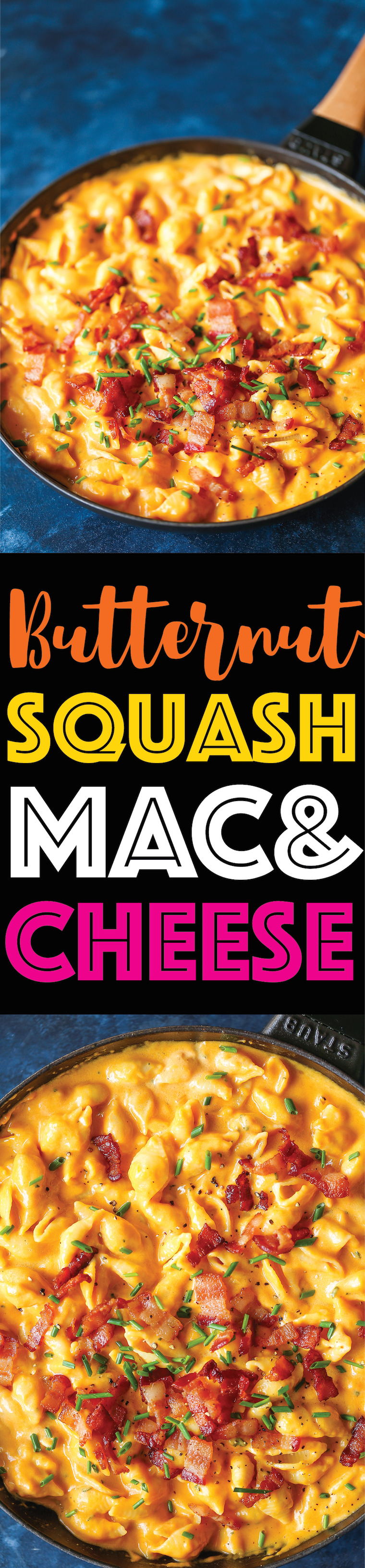 Butternut Squash Mac and Cheese - Mac and cheese at it's finest! So creamy, so rich + so amazing yet it's so much healthier than traditional mac and cheese!