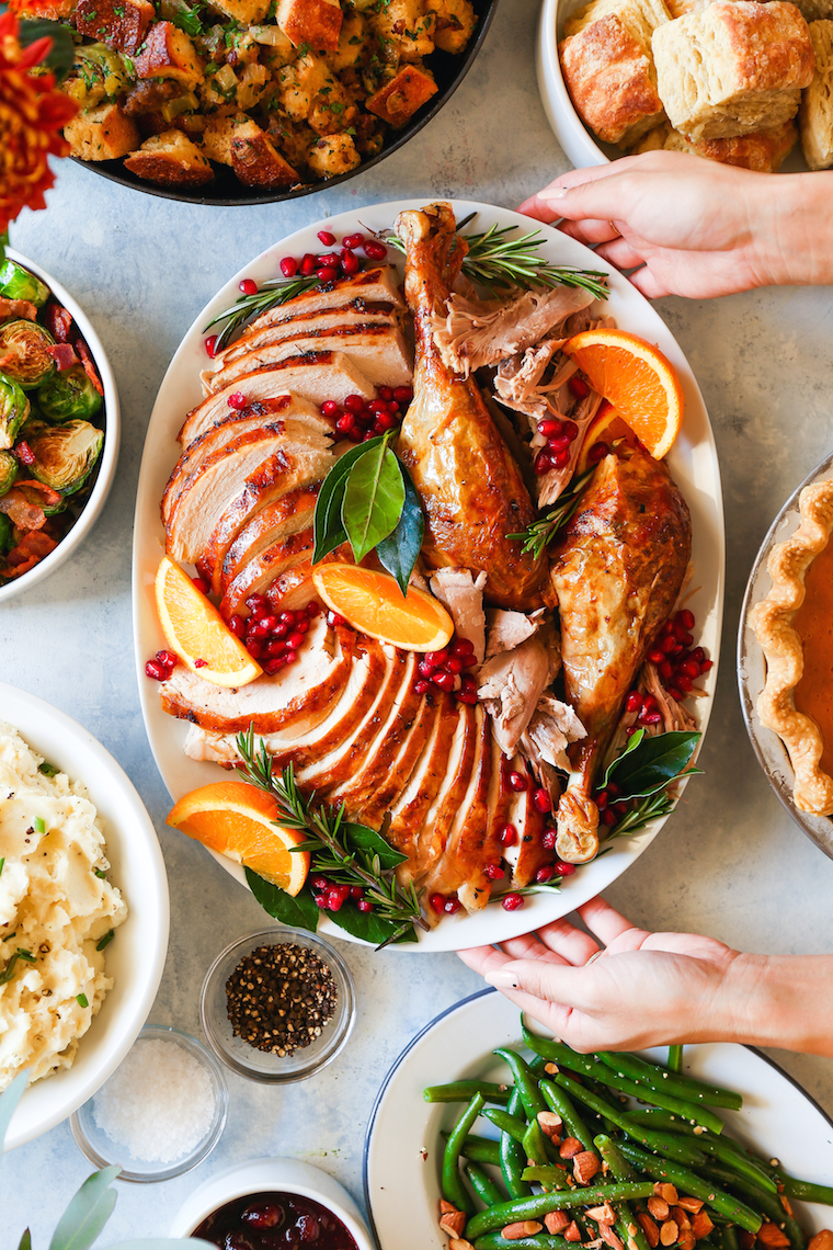 Easy Thanksgiving Turkey - The only recipe you will ever need! It's the world's simplest, no-fail, no-fuss turkey! Perfectly golden brown, juicy and tender!