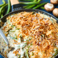 Green Bean Casserole with Crispy Fried Shallots