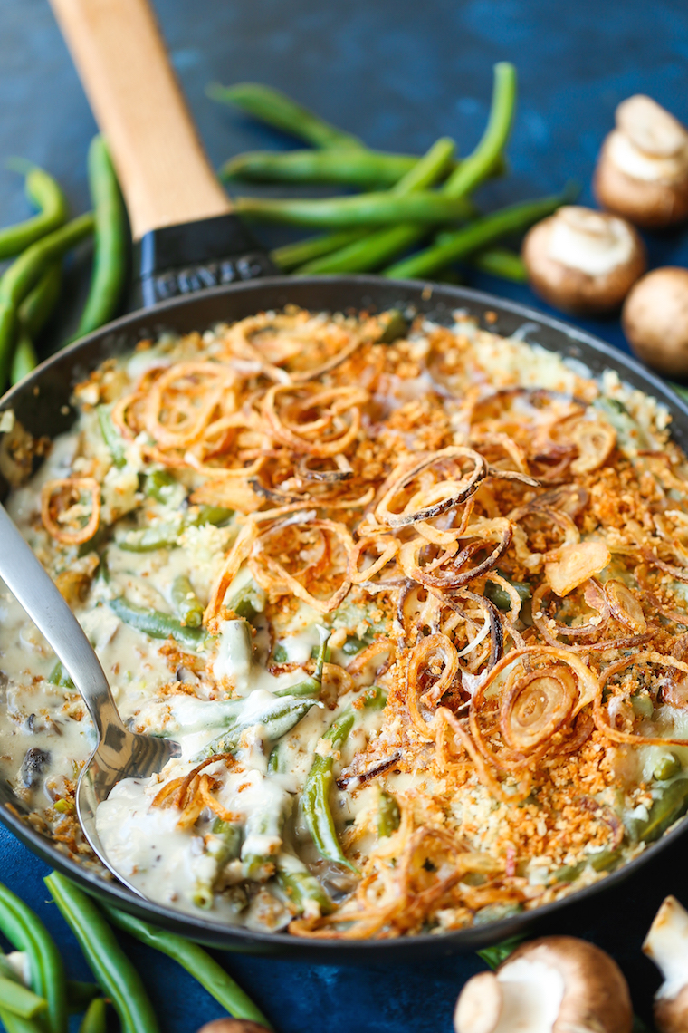 Green Bean Casserole with Crispy Fried Shallots - Hands down, this is legit the best-ever classic green bean casserole! SO EASY and made from scratch!!!