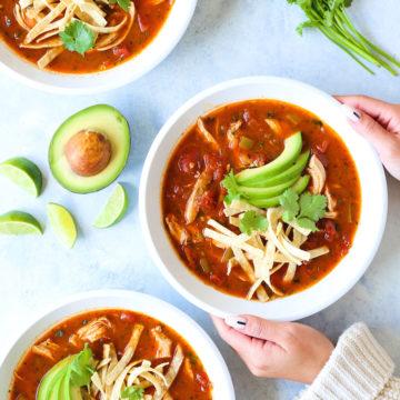 Instant Pot Chicken Tortilla Soup - Damn Delicious