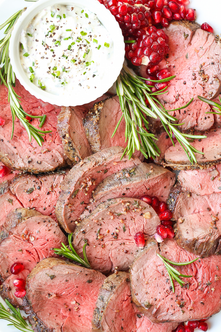 Best Beef Tenderloin with Creamy Mustard Sauce - The most amazing (and easiest!) melt-in-your-mouth beef tenderloin using the simplest ingredients!