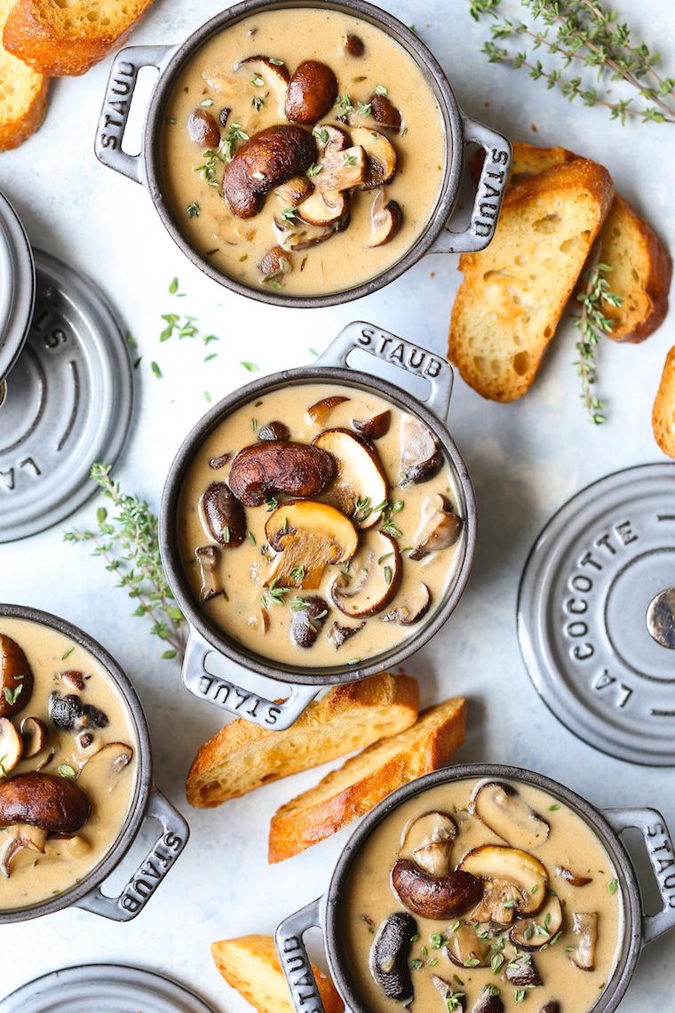 Creamy Roasted Mushroom Soup Damn Delicious