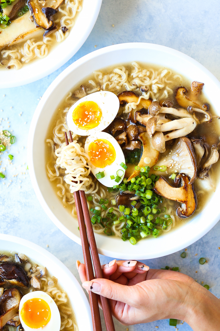 Mushroom Ramen - Restaurant-quality ramen you can make at home! With a perfectly seasoned mushroom broth, you'll never order this out again. It's THAT good!