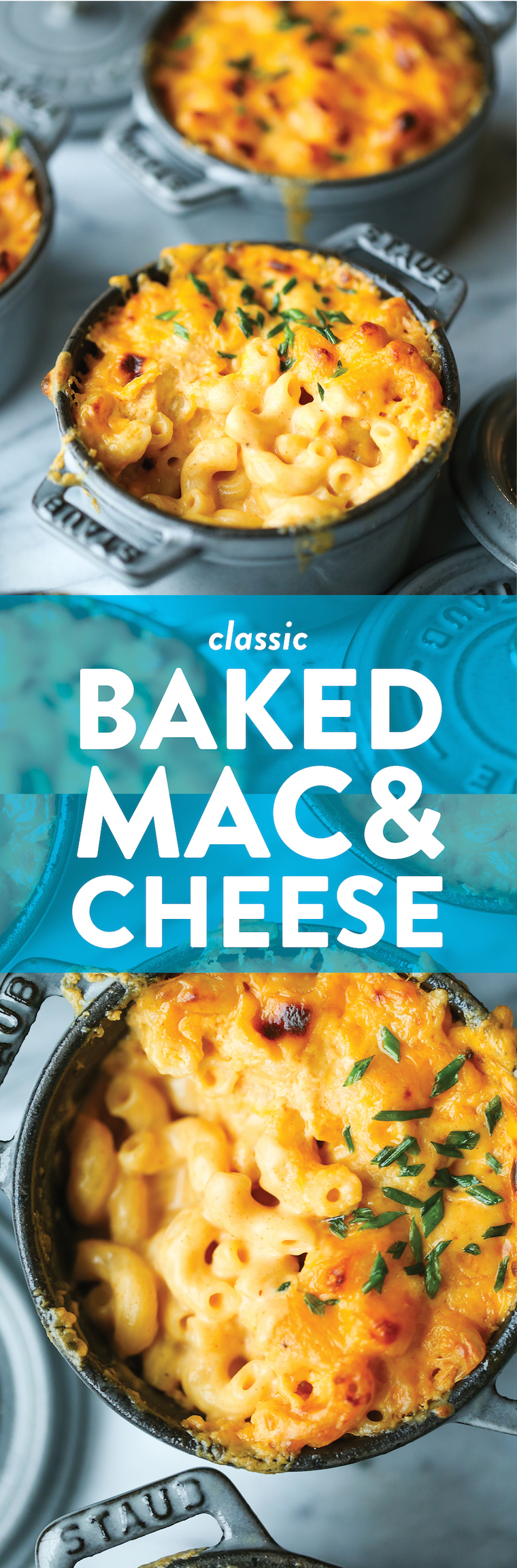 Baked Mac and Cheese - Everyone's favorite classic mac and cheese! Super simple, super easy and super quick. You'll never want the boxed stuff ever again!