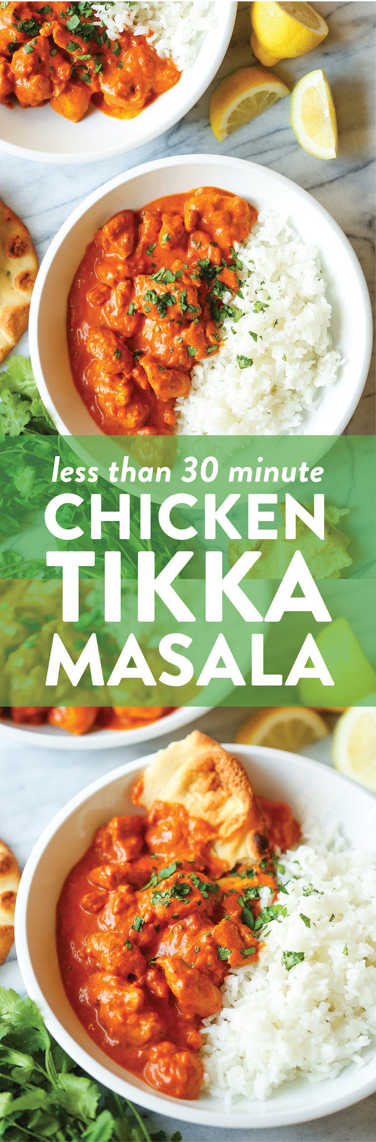 Easy Chicken Tikka Masala - 10000x better (and faster) than take-out! And the chicken is perfectly tender with the creamiest, most flavor-packed sauce ever!