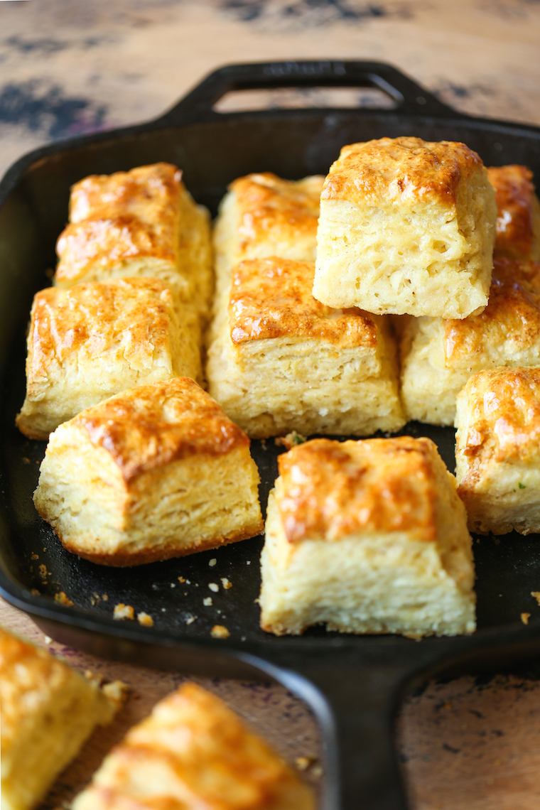 Skillet Buttermilk Biscuits Damn Delicious