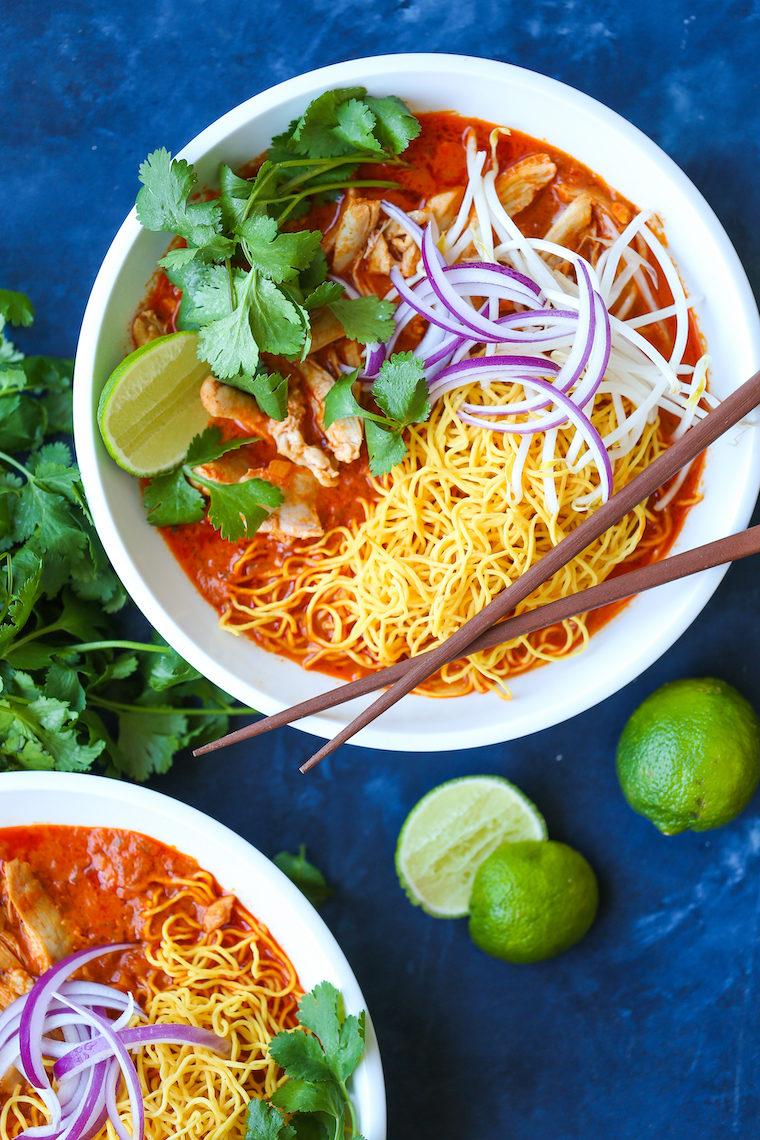 Chicken Khao Soi Thai Coconut Curry Noodle Soup Damn Delicious