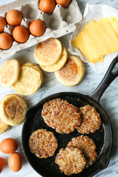 Freezer Sausage, Egg, and Cheese Breakfast Sandwiches