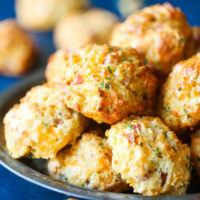 Ham and Cheese Drop Biscuits
