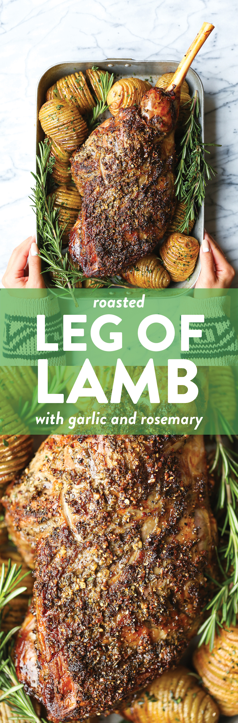Roasted Leg of Lamb - This recipe is so good yet it doesn't require too much time, effort or ingredients. It's easy & fool-proof, even for you first-timers!