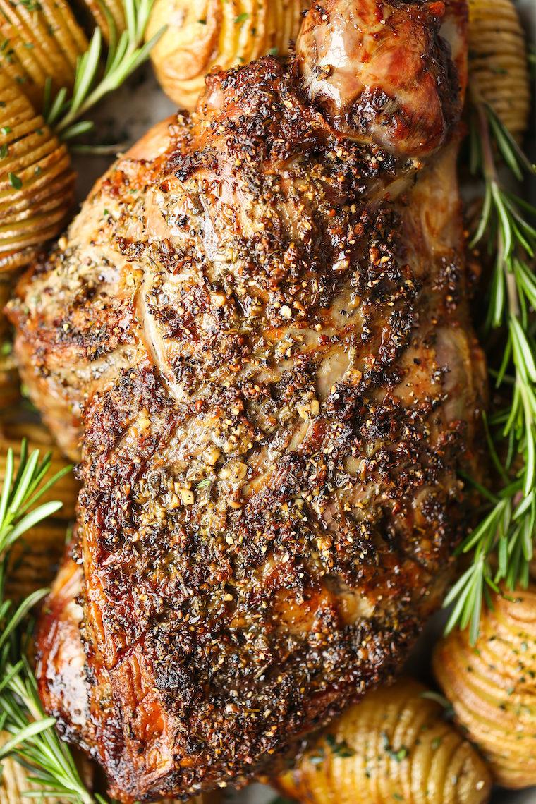 Roasted Leg Of Lamb Delicious