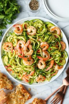 Garlic Butter Shrimp Zucchini Noodles recipe