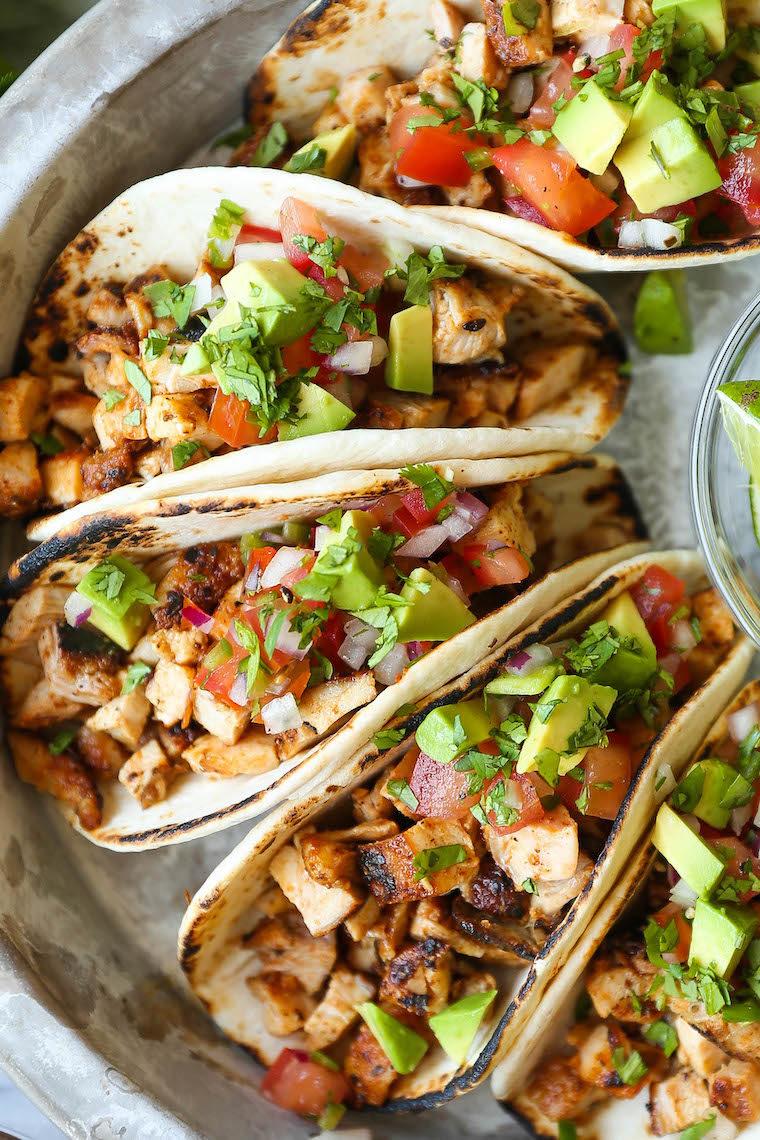 Easy Chicken Tacos - Damn Delicious