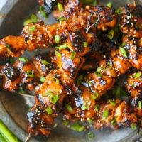 Honey Garlic Asian Chicken Kabobs