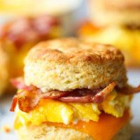 Make Ahead Breakfast Biscuit Sandwiches