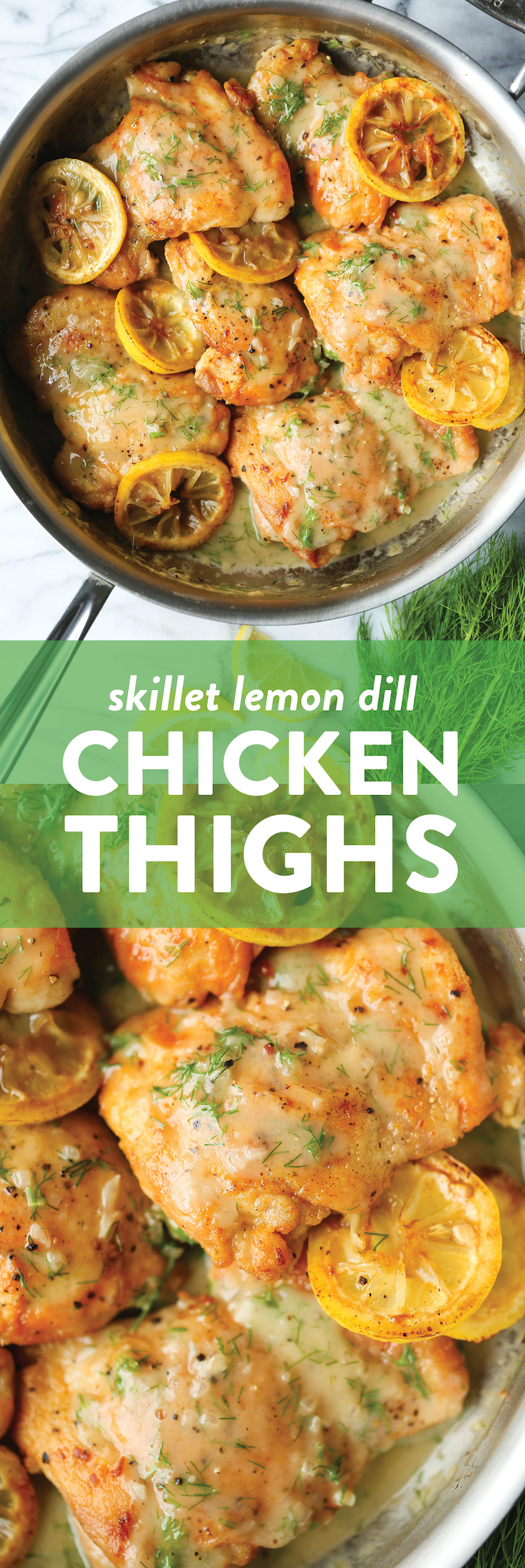 Skillet Lemon Dill Chicken Thighs