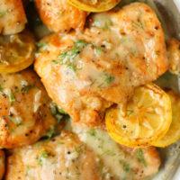 Skillet Lemon Dill Chicken Thighs