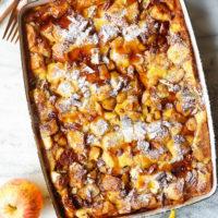 Overnight Cinnamon Apple French Toast Bake
