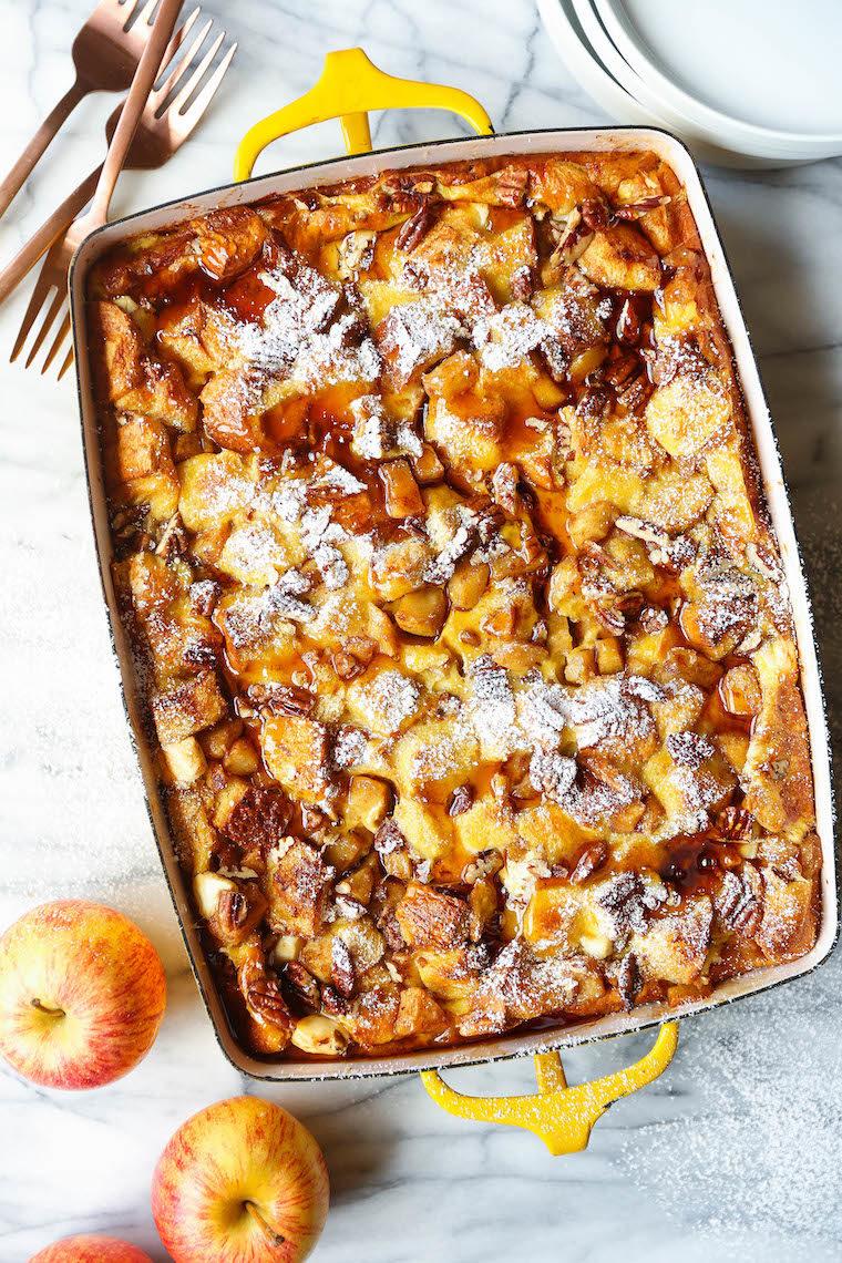 Overnight Cinnamon Apple French Toast Bake Damn Delicious