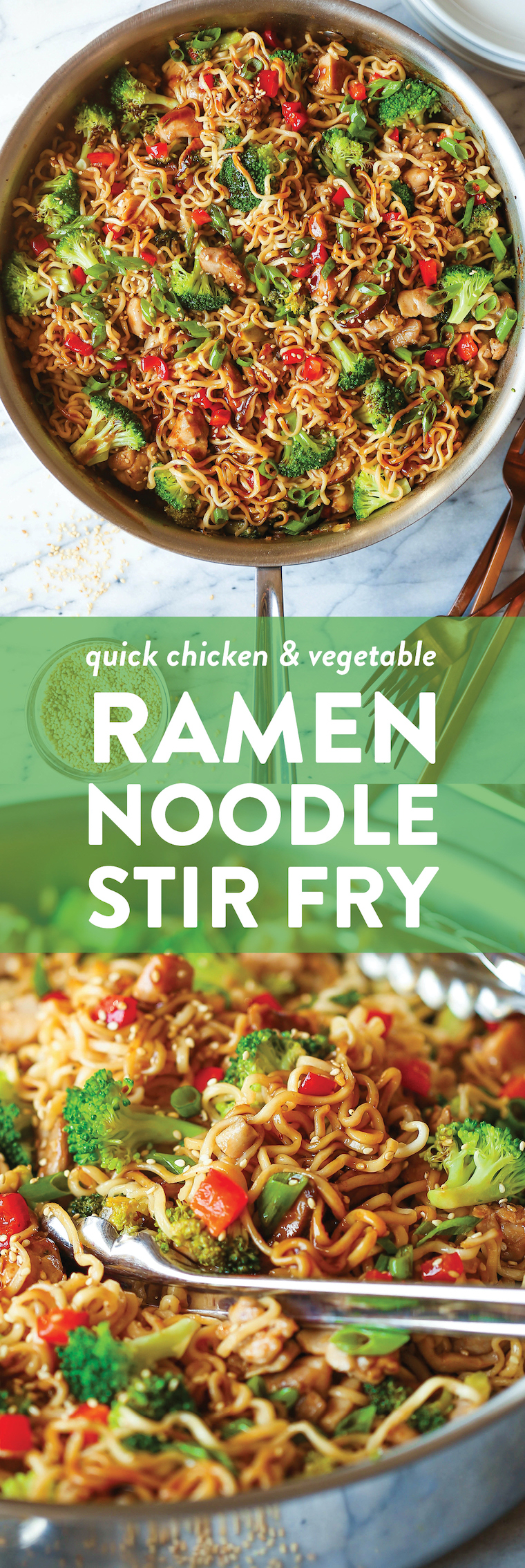 Quick Chicken Ramen Noodle Stir Fry Recipe