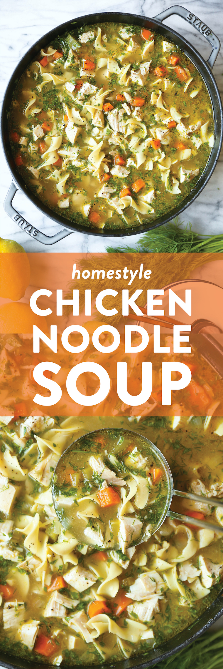 Homestyle Chicken Noodle Soup - Classic chicken noodle soup that will leave you feeling so good, so warm, so cozy. Perfect for sick days and cold nights!!!