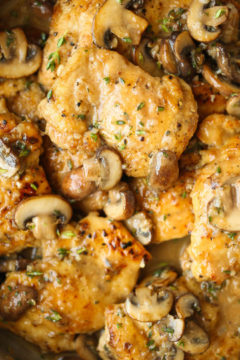 Skillet Mushroom Chicken Thighs