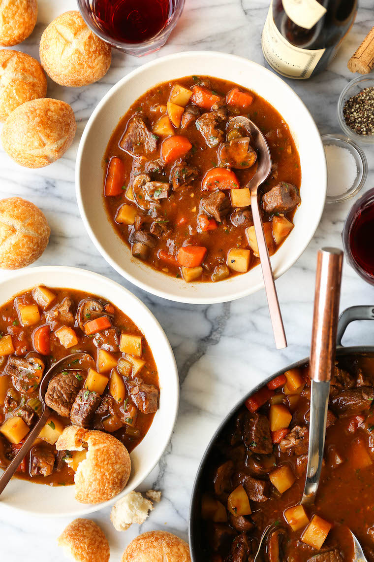 Best Ever Beef Stew - A cozy, classic beef stew with tender beef, carrots, mushrooms + potatoes. Everyone will love this, especially on those chilly nights!