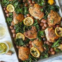 Sheet Pan Lemon Rosemary Chicken