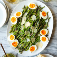 Roasted Asparagus with Parmesan and Soft-Boiled Eggs