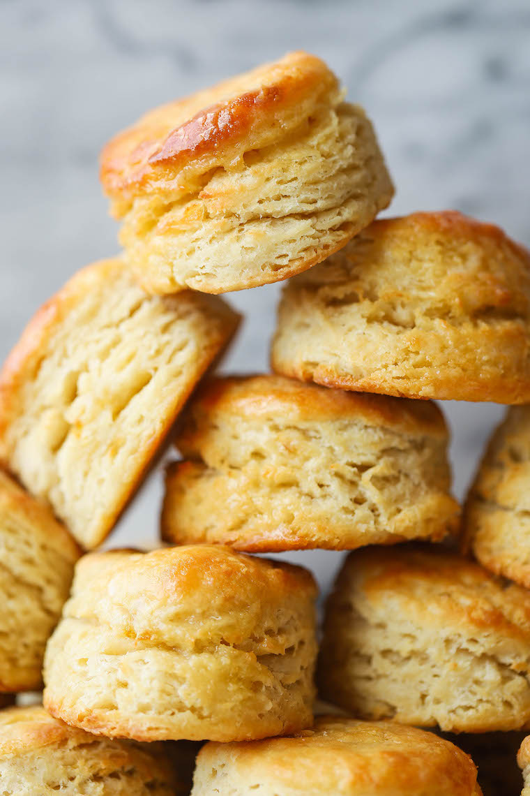 "Sourdough Biscuits - Use up your ""discarded"" starter in these EPIC biscuits! With that sourdough tang, these biscuits are so flaky, so butter + so so good."