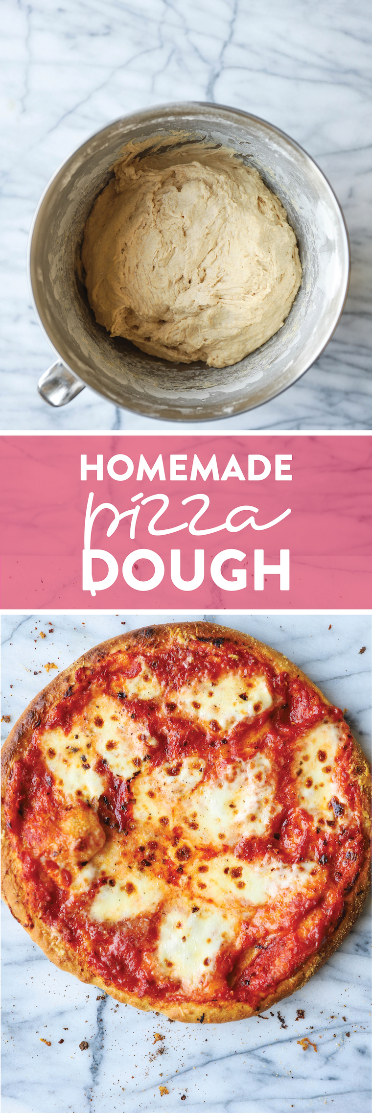 Homemade Pizza Dough - So much easier to make than you think, and it's such a game-changer! Perfect for pizza night and it's freezer-friendly!