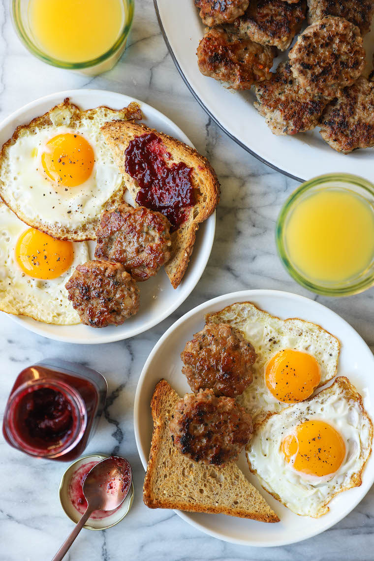 Homemade Breakfast Sausage - Nothing beats home!  These sausage patties are so easy to make and they can also be frozen.  Win-win!