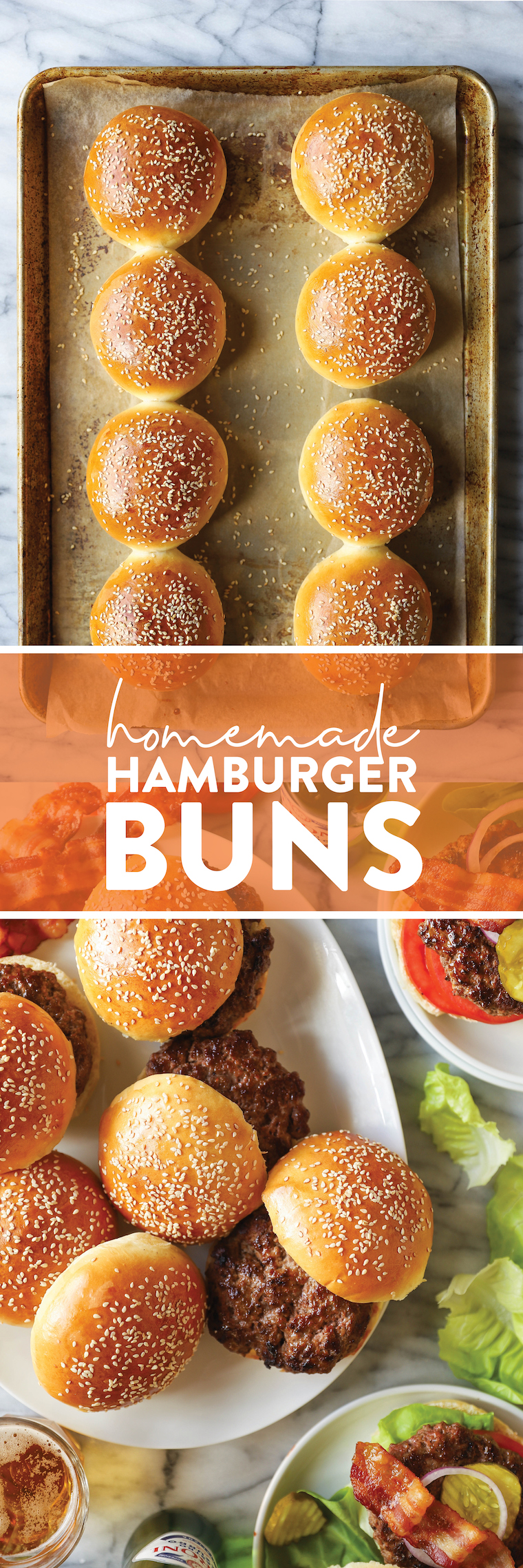 Homemade Hamburger Buns - THE BEST Buns Ever!  So soft, chewy and airy, perfect for any sandwich.  You will never want to buy in store ever again!