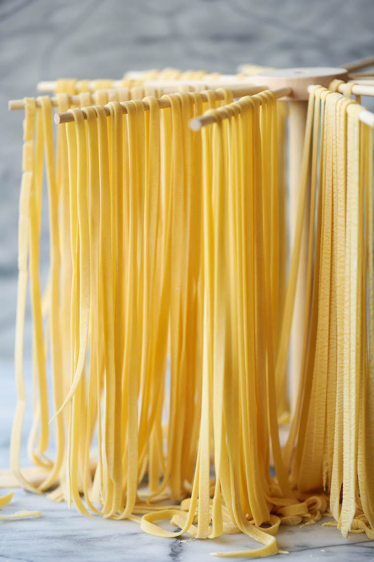 Homemade pasta - fresh homemade pasta!  All you need are 4 ingredients and it's super easy (and versatile).  Perfect for any shape!