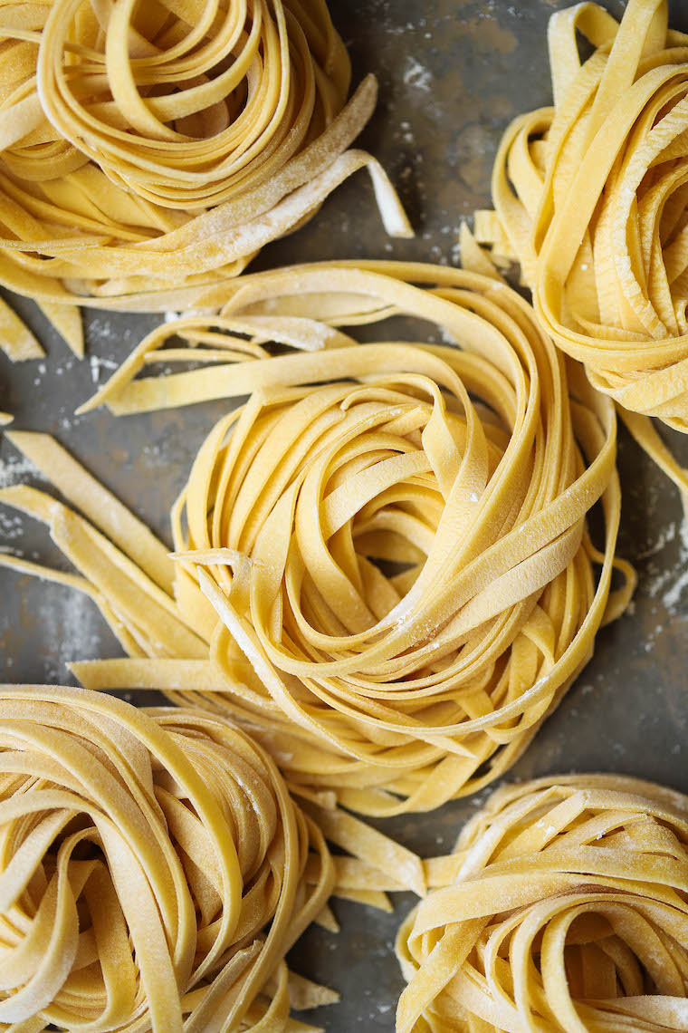 Homemade pasta - Fresh homemade pasta dough!  All you need is 4 ingredients and it's amazingly easy (and so versatile).  Perfect for all shapes!