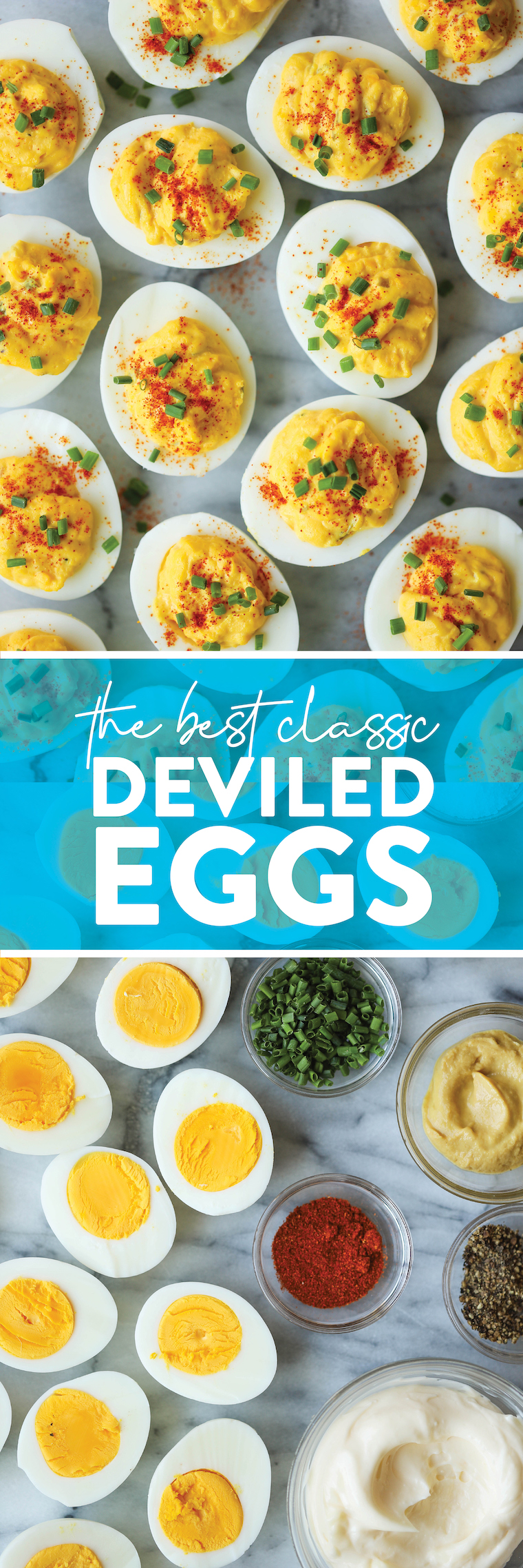 The Best Classic Stuffed Eggs - Perfect for Holidays and Meetings.  It's a classic!  So good, so creamy and such a crowd pleaser.